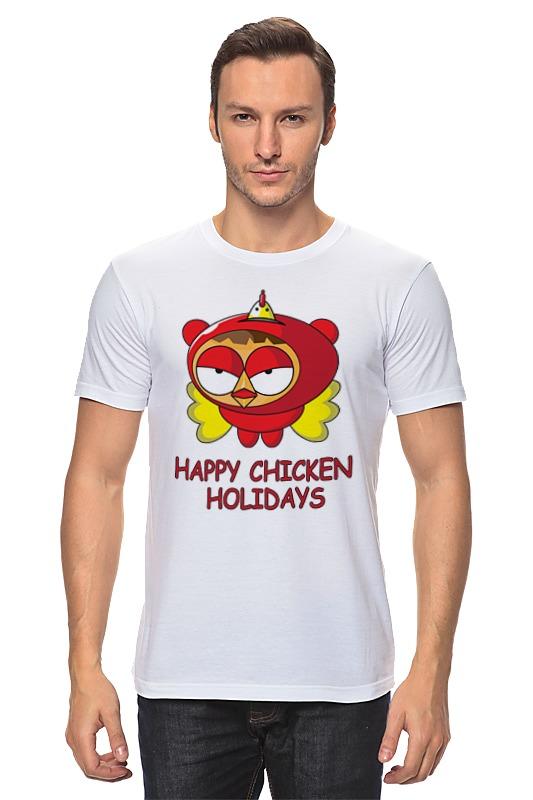 Футболка классическая Printio Happy chicken holidays поло print bar happy chicken holidays