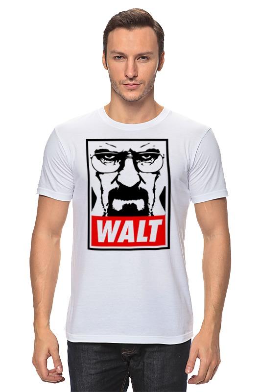 Футболка классическая Printio Уолтер уайт футболка с полной запечаткой для мальчиков printio уолтер уайт