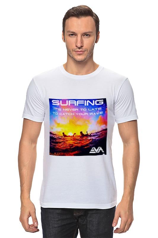 Футболка классическая Printio Серфинг на закате лонгслив printio серфинг на закате
