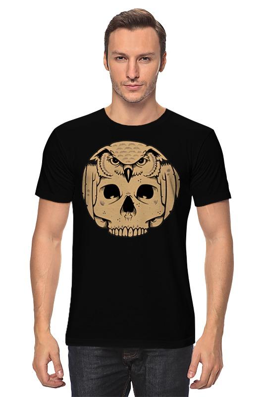 Футболка классическая Printio Owl scull / сова с черепом