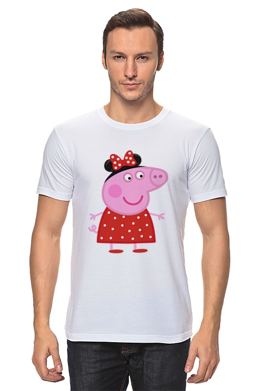 Футболка классическая Printio Peppa pig peppa pig свинка пепа плюшевые игрушки розовая свинка сестра 26см