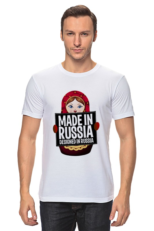 Футболка классическая Printio Made in russia by hearts of russia футболка рингер printio made in russia by hearts of russia