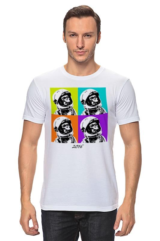Футболка классическая Printio Обезьяна космонавт футболка рингер printio королева обезьяна