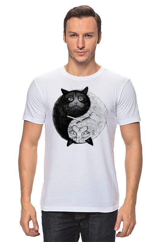 Футболка классическая Printio Угрюмый кот инь-янь