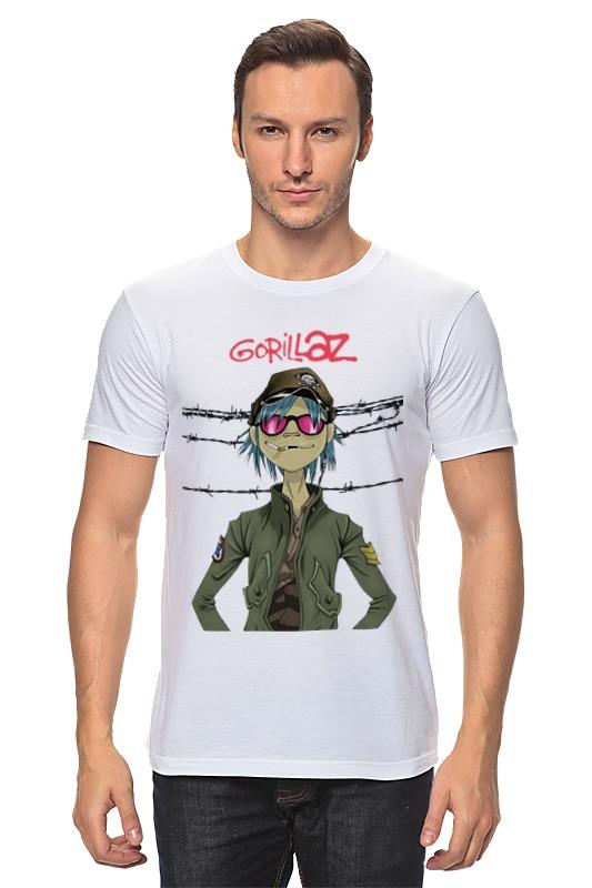 Футболка классическая Printio Gorillaz купить часы с изображением музыкальной группы