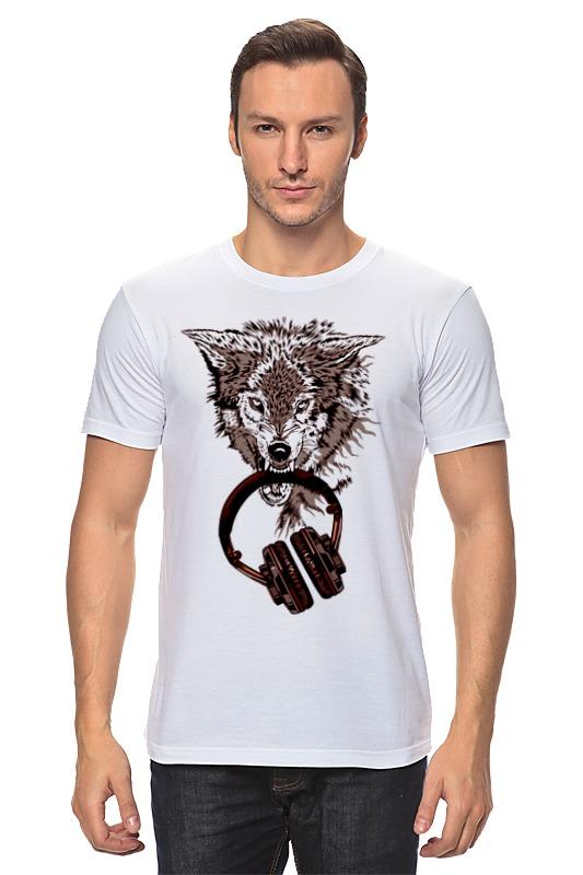 Футболка классическая Printio Волк меломан футболка классическая printio меломан