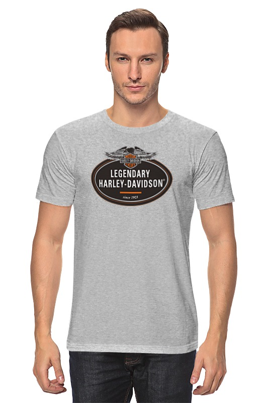 Футболка классическая Printio Harley-davidson an american legend / харлей цена