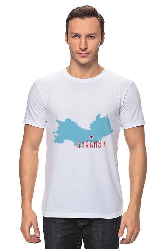 Футболка классическая Printio Республика мордовия. саранск