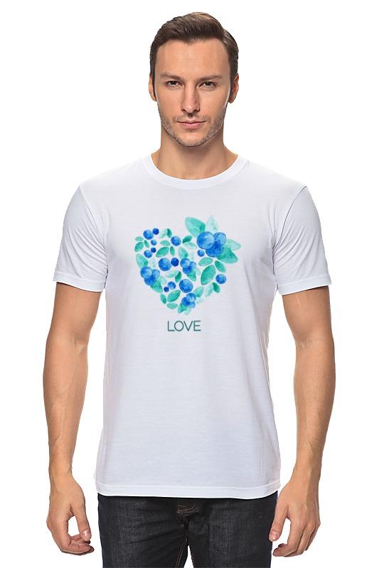 Футболка классическая Printio Акварель сердце из голубики лонгслив printio акварель сердце из голубики