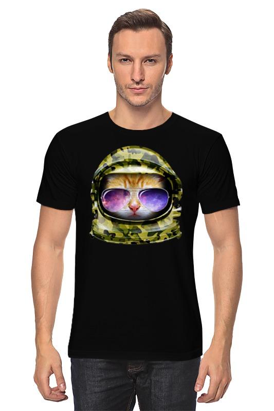 Printio Кот в очках футболка лодочка кот в очках