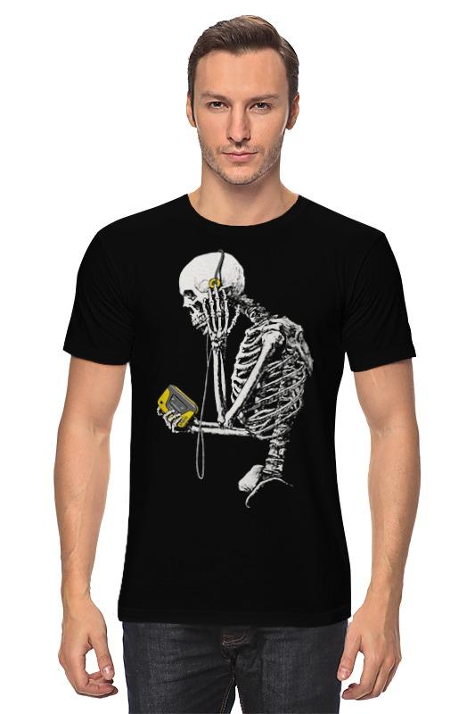 Футболка классическая Printio Скелет с плеером