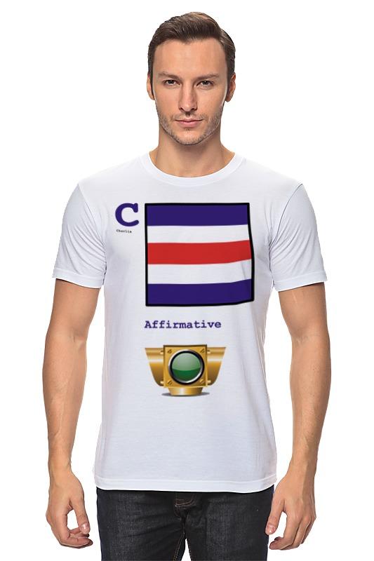 Футболка классическая Printio Charlie (c), флаг мсс (eng) флаг пограничных войск россии великий новгород