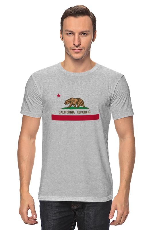 Футболка классическая Printio Калифорния флаг футболка print bar флаг азербайджана