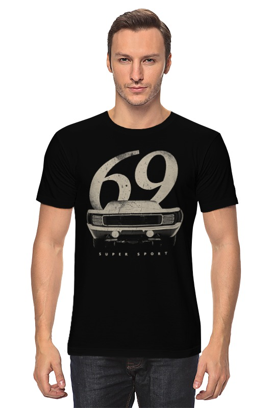 Футболка классическая Printio Шевролет камаро 1969 - american muscle car car