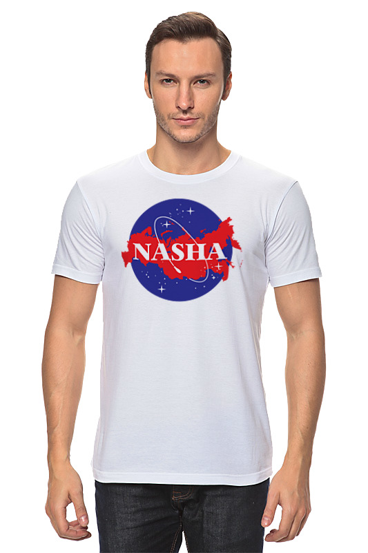 Футболка классическая Printio Наша russia (nasa)