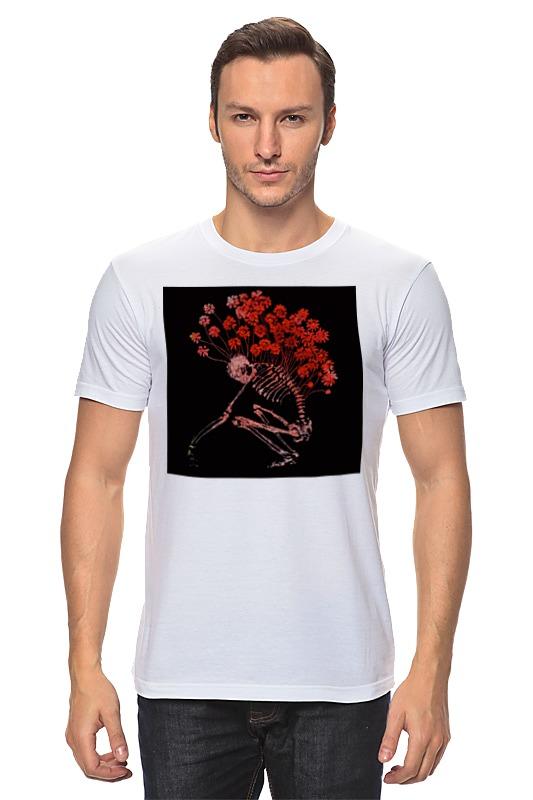 Футболка классическая Printio Скелет пророс цветами футболка классическая printio сакральная анатомия