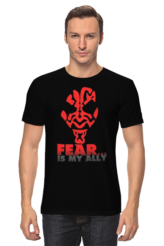 Футболка классическая Printio Fear is my ally (star wars) my friend fear