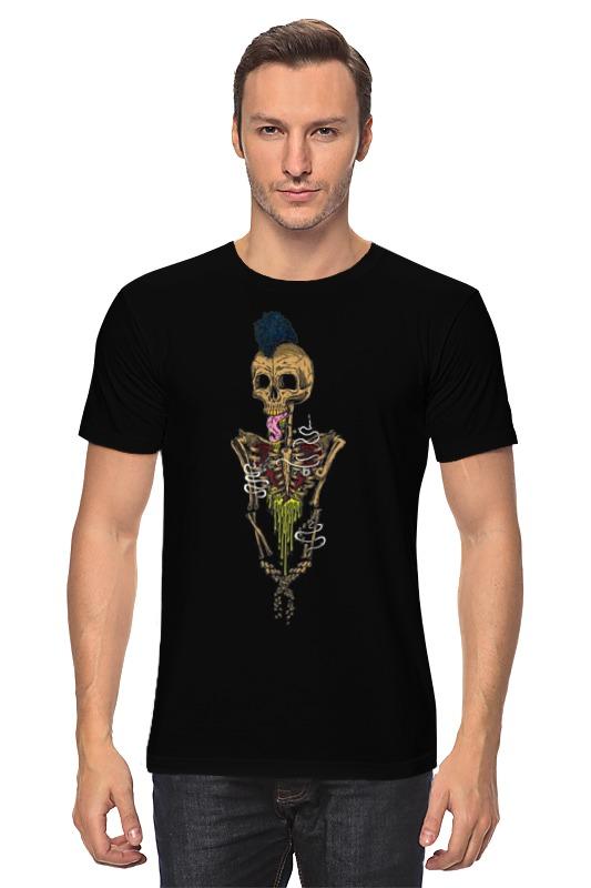 Футболка классическая Printio Skeleton art k colouring women ladies automatic self wind watch hollow skeleton mechanical wristwatch for gift box