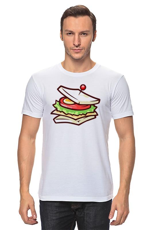 Футболка классическая Printio Сендвич ангар из сендвич панелей в самаре