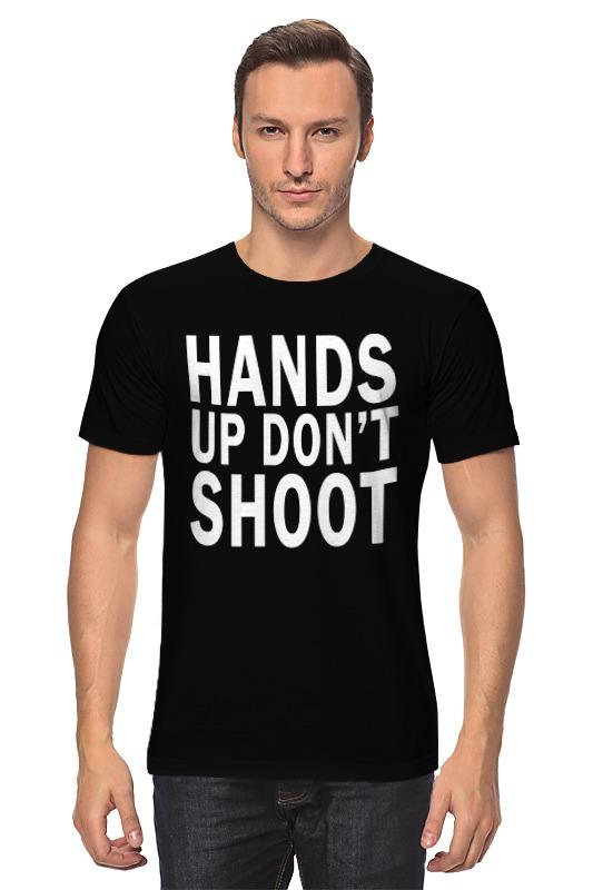 цены Футболка классическая Printio Hands up don't shoot (руки вверх не стрелять)