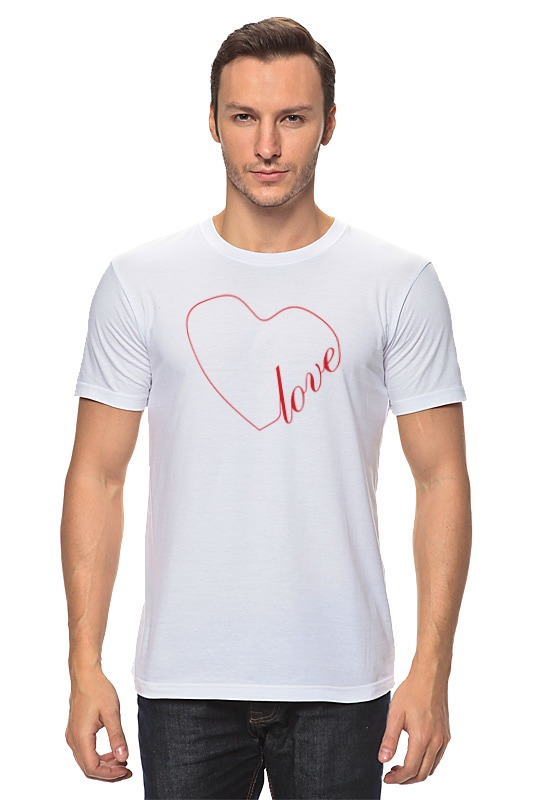 Футболка классическая Printio Сердце (love) футболка твое футболка с длин рукавомбел 140 1сорт