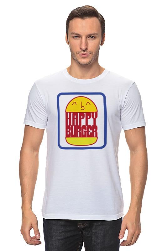 Футболка классическая Printio Счастливый бургер цена