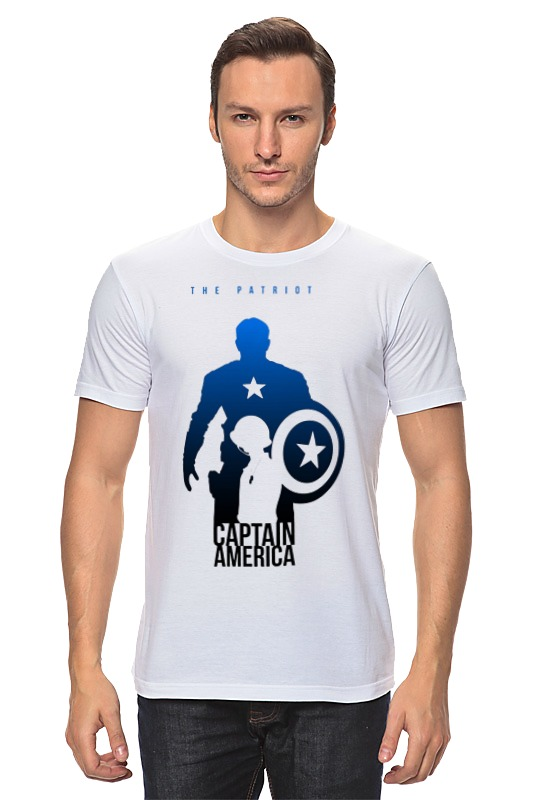 Футболка классическая Printio Captain america bs 340 captain america keychain with light and sound creative gifts