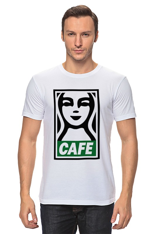 Футболка классическая Printio Starbucks (obey) футболка рингер printio belles book cafe starbucks