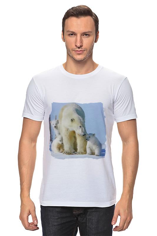 Футболка классическая Printio Белая медведица с медвежатами цена