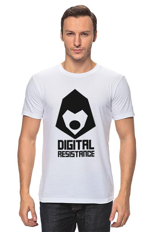 Футболка классическая Printio Digital resistance. цифровое сопротивление