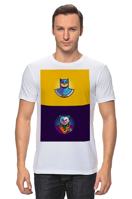 Футболка классическая Printio Бэтмен и джокер футболка print bar бэтмен и джокер