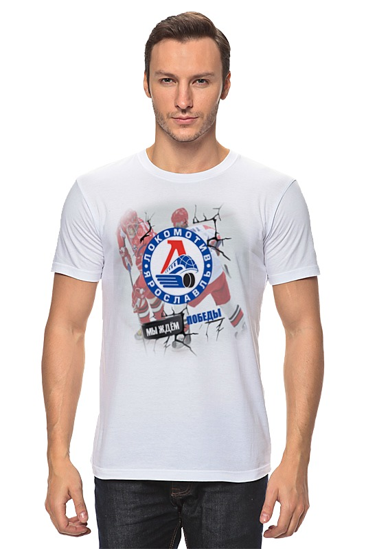 Футболка классическая Printio «локомотив»-хоккейный клуб. шлем хоккейный 4500