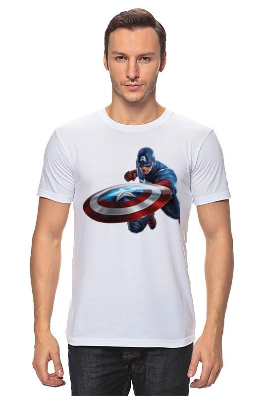 Футболка классическая Printio Капитан америка (captain america) футболка классическая printio капитан америка captain america