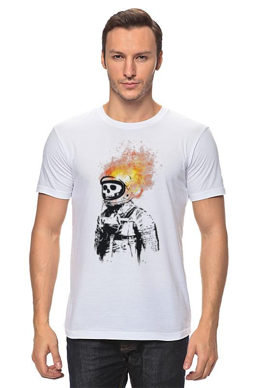 Футболка классическая Printio Портрет космонавта футболка классическая printio николай гоголь портрет работы фёдора моллера