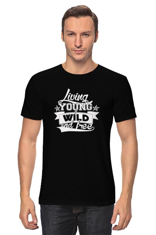 Футболка классическая Printio Young, wild and free футболка print bar sad and young