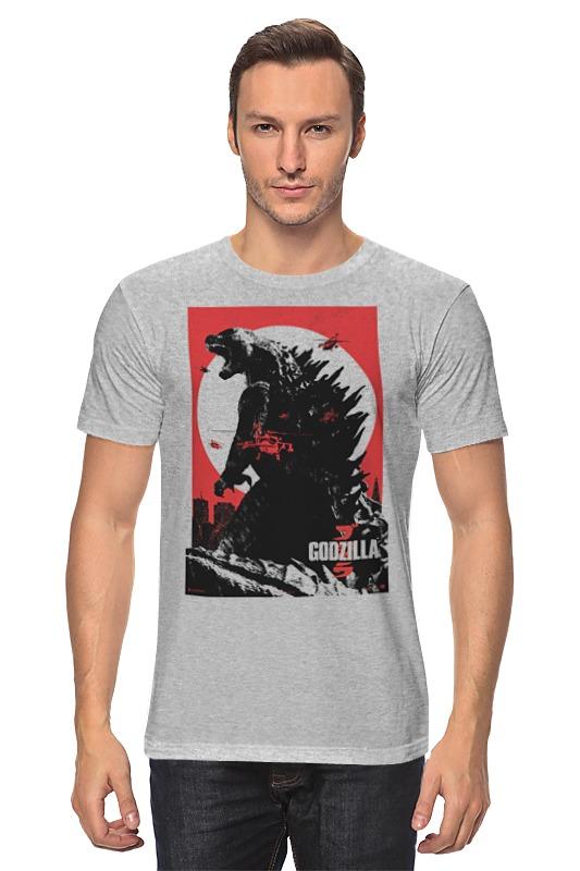 Футболка классическая Printio Godzilla gray