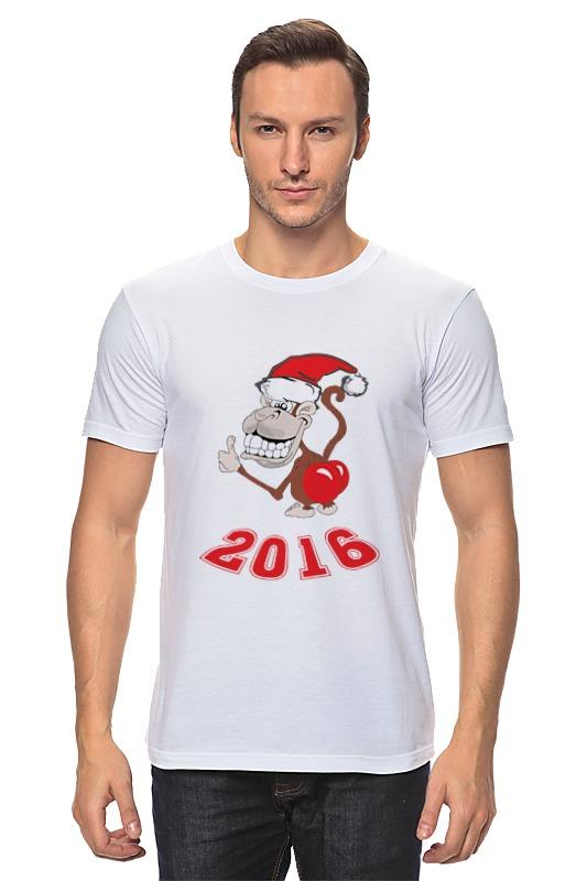 Футболка классическая Printio Обезьяна (новый год 2016) футболка классическая printio новый год 2018