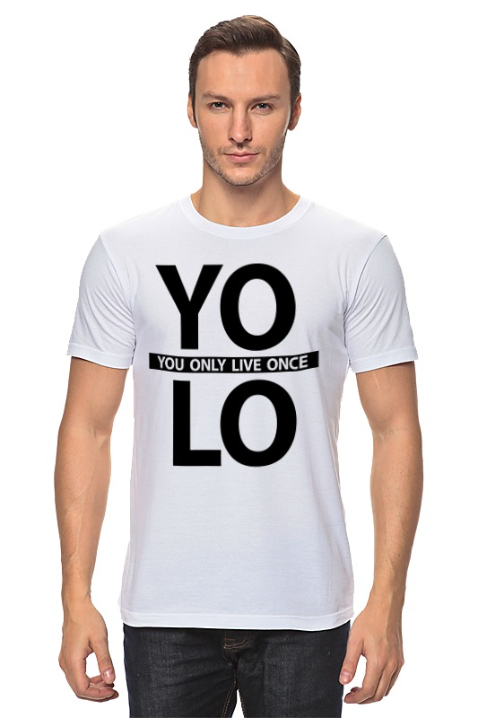 Футболка классическая Printio Yolo (you only live once) цены онлайн