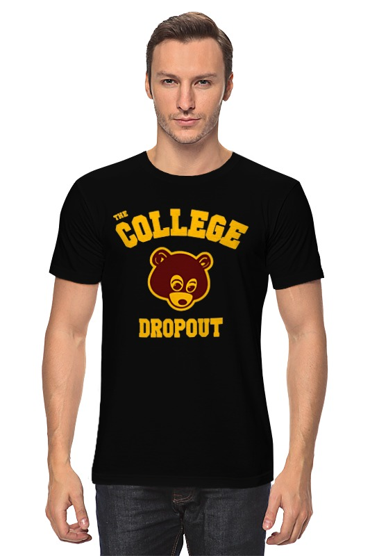 Футболка классическая Printio The college dropout the causal factors of dropout among the socio economically backward