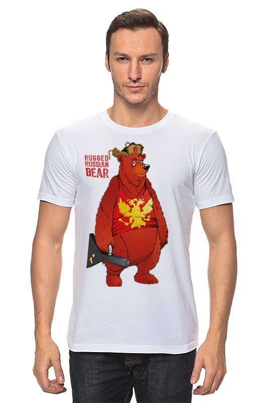 Футболка классическая Printio Rugged russian bear rugged compass clip