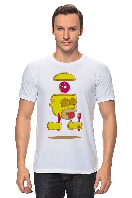 Футболка классическая Printio Гомер симпсон (homer simpson) футболка puma футболка essential graphic layer tank