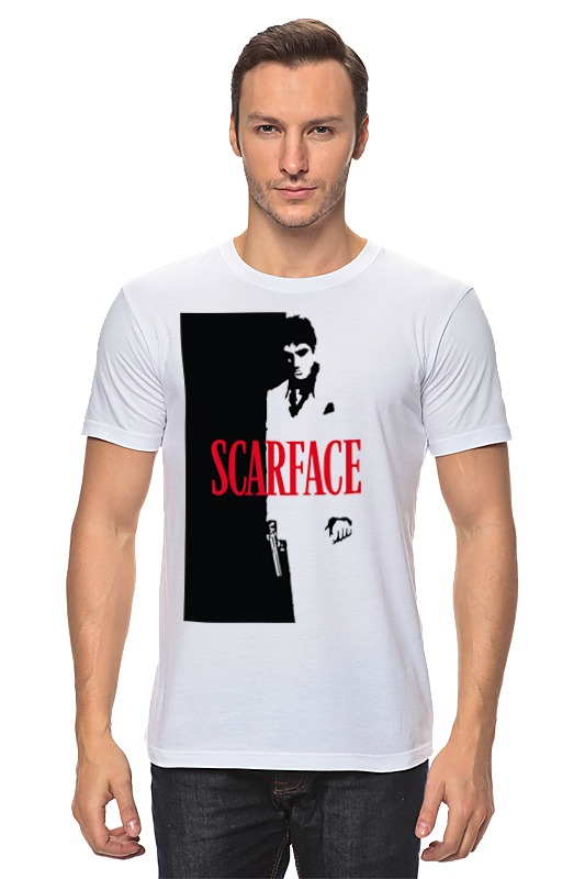 Футболка классическая Printio Лицо со шрамом (scarface) футболка классическая printio тони монтана лицо со шрамом