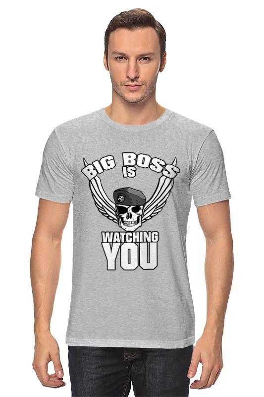 лучшая цена Футболка классическая Printio Big boss is watching you