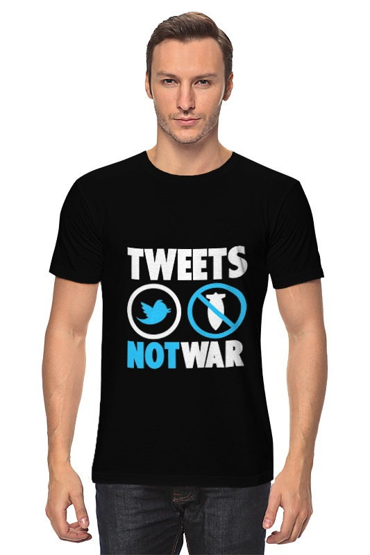 лучшая цена Футболка классическая Printio Tweets not war