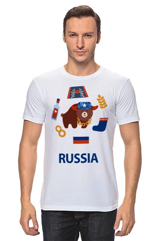 Футболка классическая Printio Россия (russia)