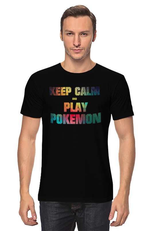 Футболка классическая Printio Keep calm and play pokemon сумка printio keep calm and ski on