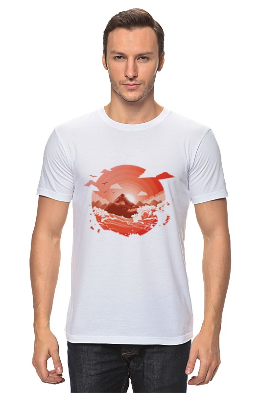 Футболка классическая Printio Красный рассвет над горами футболка рассвет
