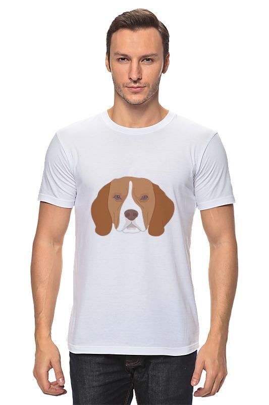 Футболка классическая Printio Пёс . лагунов к я белый пёс синий хвост