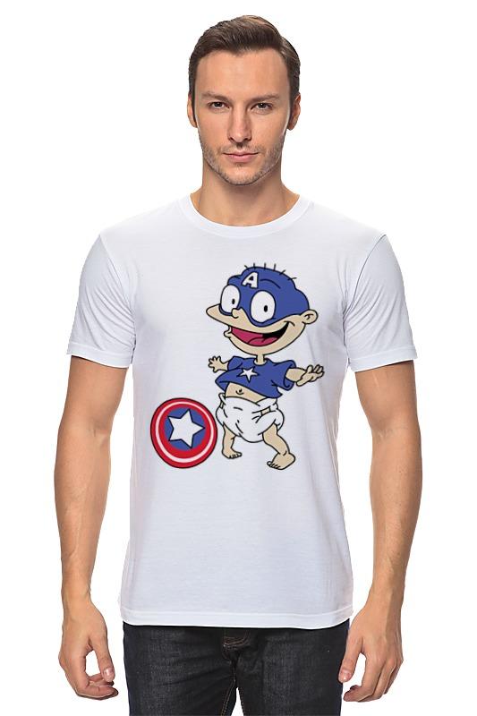Printio Капитан америка (ох, уж эти детки!) футболка wearcraft premium slim fit printio капитан америка ох уж эти детки