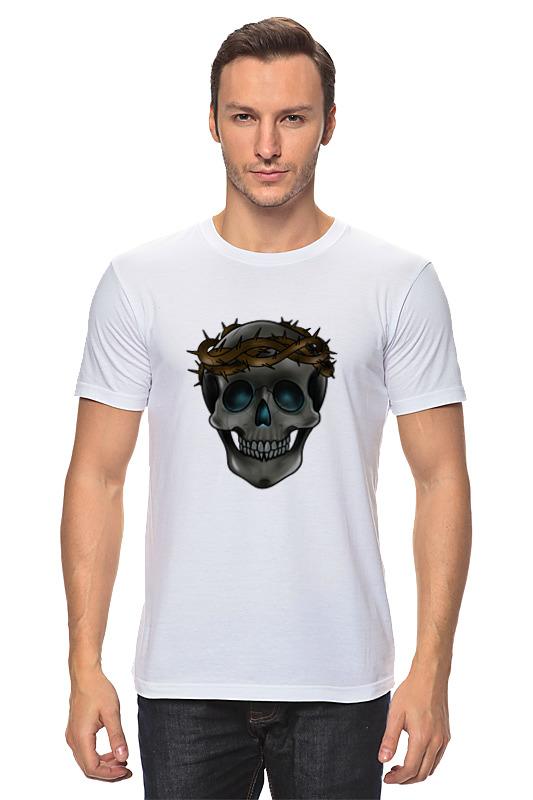 Футболка классическая Printio Skull in a crown of thorns футболка классическая printio the skull of a hero